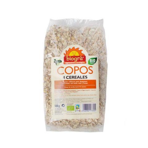 Flocs 4 cereals 500 Gr Biogra