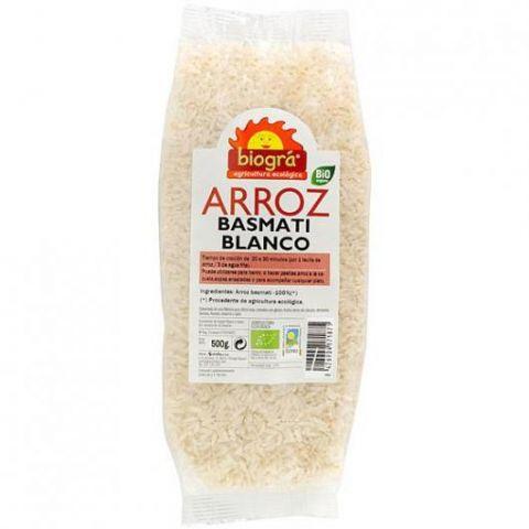 Arròs Basmati Blanc 500 Gr Biogra